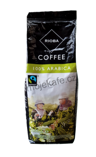 Rioba Coffee 100% Arabica FairTrade zrnková káva 1kg